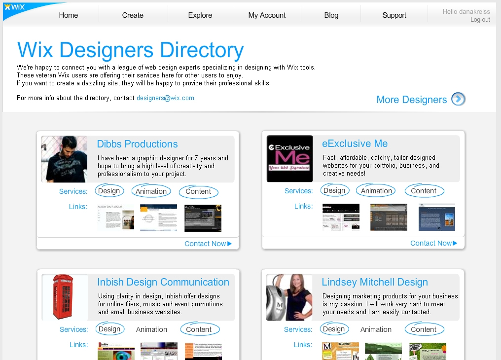 Wix Designers Directory