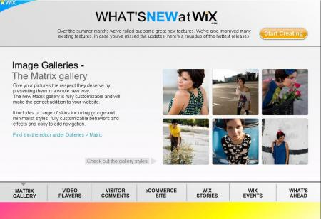Fall edition of the Wix Newsletter
