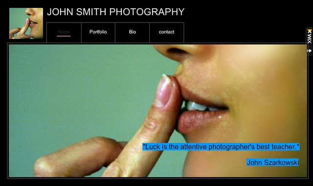 Designing a Photography Website: Template Manipulation