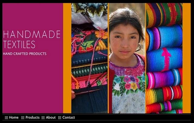 Handmade Textiles Website was created using Wix.com Flash template