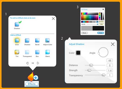 How to use the Wix Editor shadow-effect