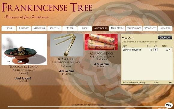 eCommerce Wix site