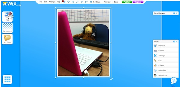 Upload pics from iPhone using WixTools