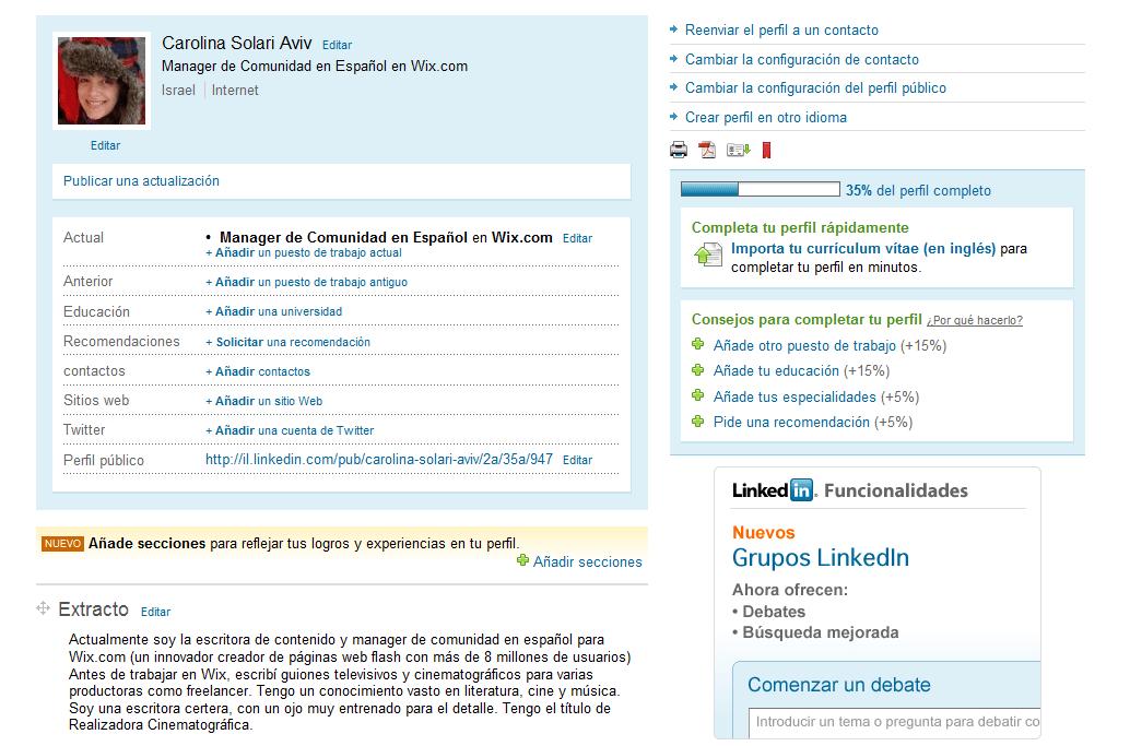 Linkedin Perfil