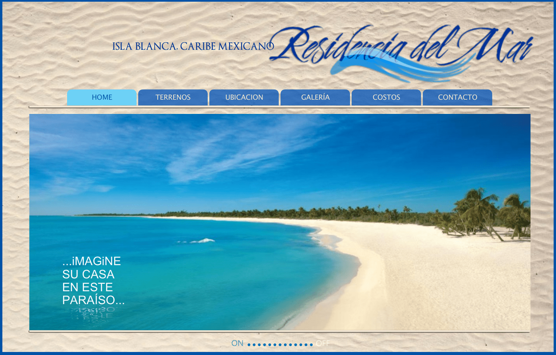 Residencia del Mar Página Web