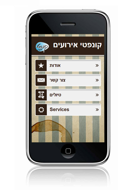 Wix Mobile Showcase Conffeti Events