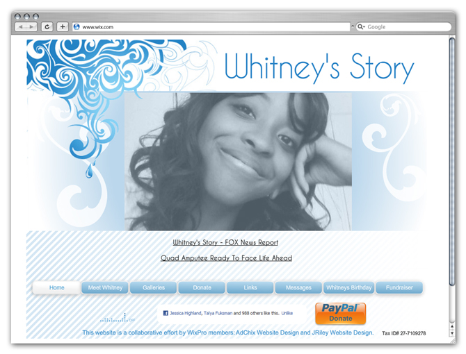 Whitney Mitchell Website
