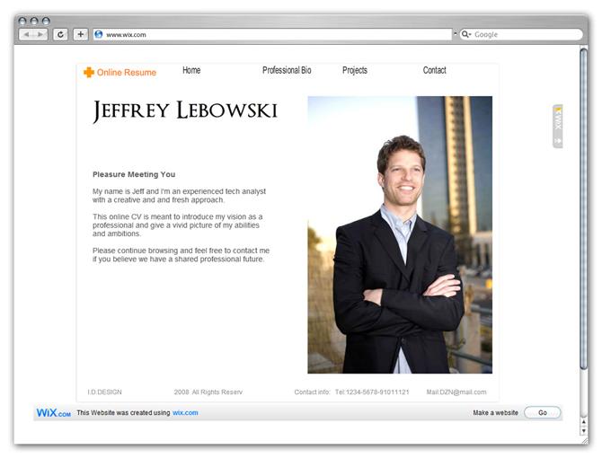 Online CV Homepage