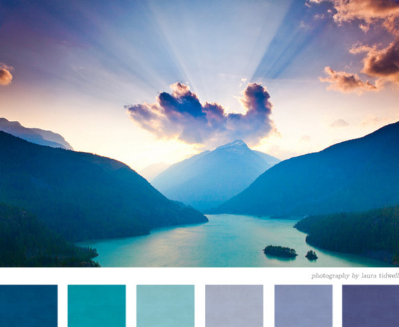 Paleta de Colores Azules