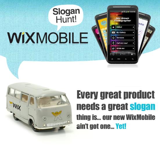 Anunciamos el Concurso WixMobile Slogan Hunt!