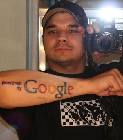 Powered by Google Tattoo