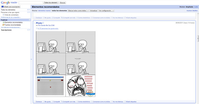 Google Reader en español