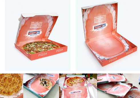 Colgate-branded Pizza