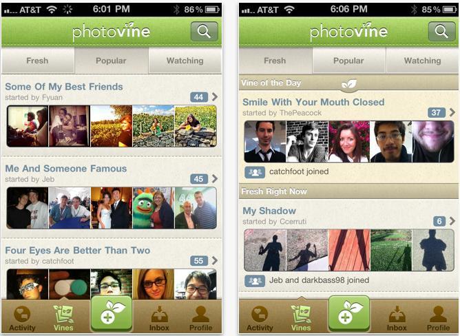 Photovine app