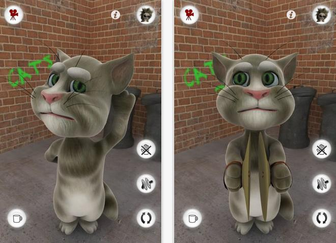 Talking Tom App for smartphone
