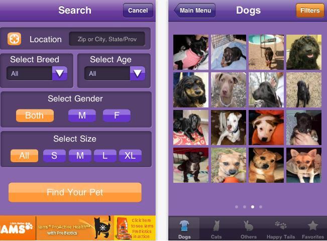 PetFinder smartphone app
