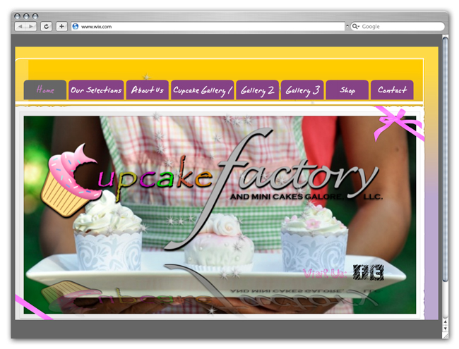 Cupcake Factory site