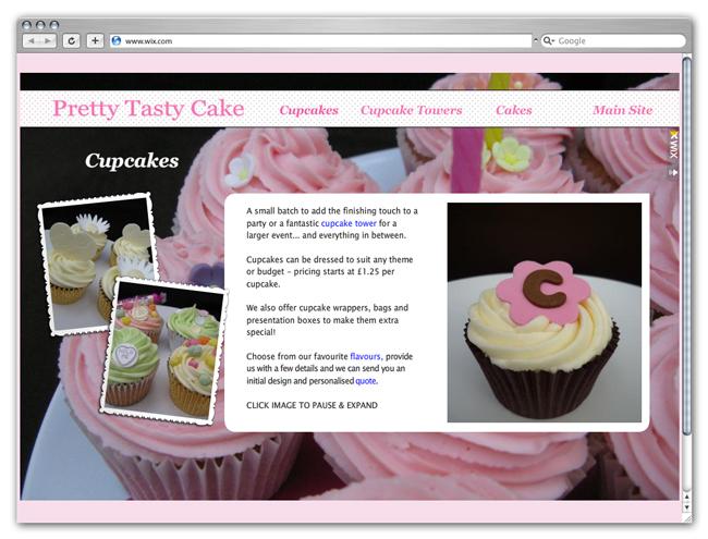 PrettyTasty Cake site