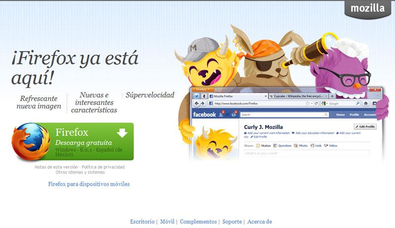 Firefox en Esapañol