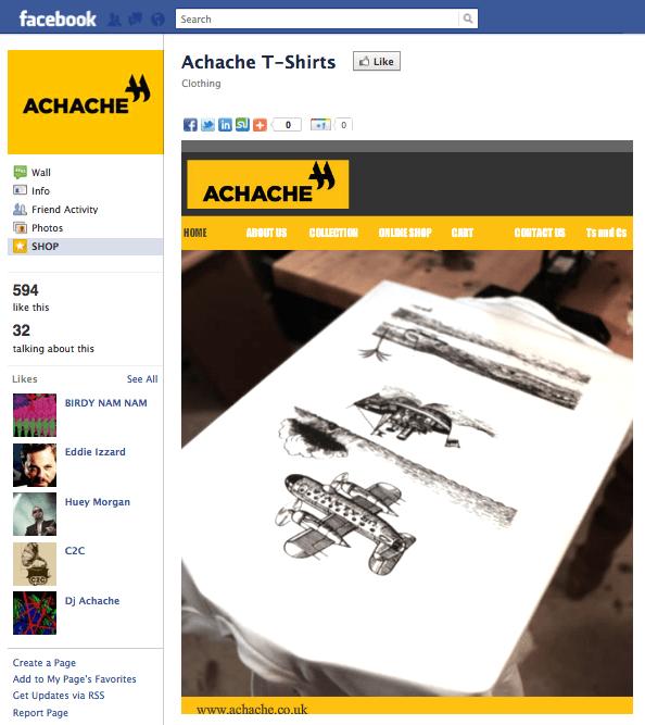 Achache T-Shirts Página de Facebook