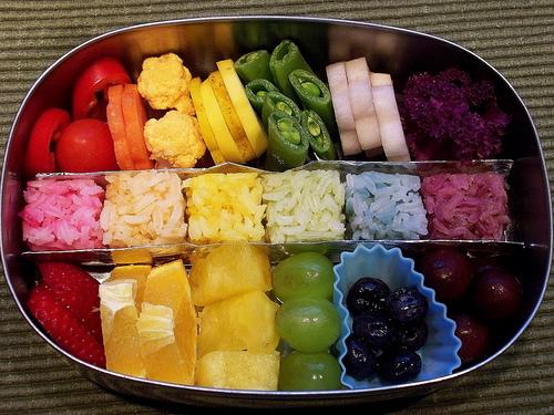 Canasta arco iris