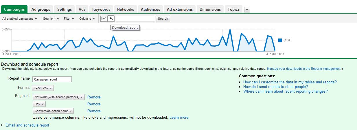 AdWords Report
