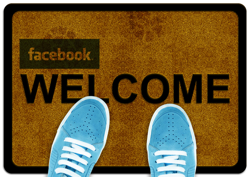 Create a Facebook Welcome Page with wix