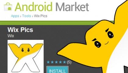 Musa frente a screenshot del Android Market