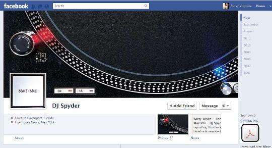 Dj Spyder Fb Timeline Design