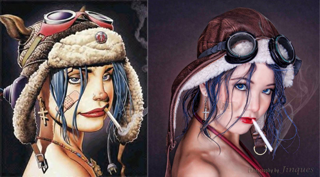 """Tank Girl"" Remake by Leslie Caulfield"
