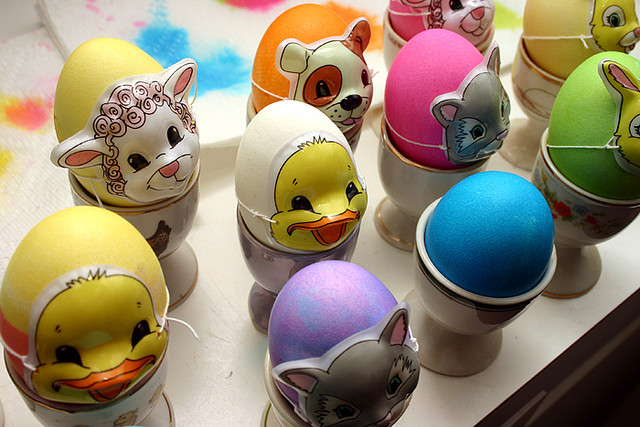 Easter Eggs With Masks On
