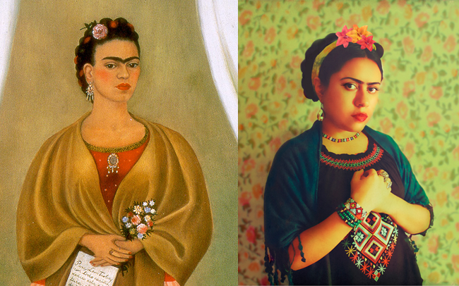 "Frida kahlo, ""Self Portrait"" By Julia Davila"