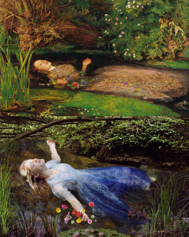 "Tate Millais ""Ophelia"" Remake By Stephanie Morin"
