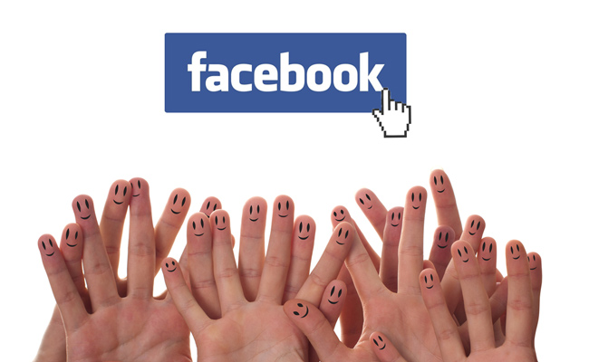 fingers and facebook logo