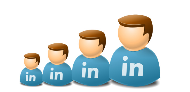 4 linkedin icons
