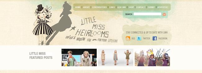 Little miss heir looms Header