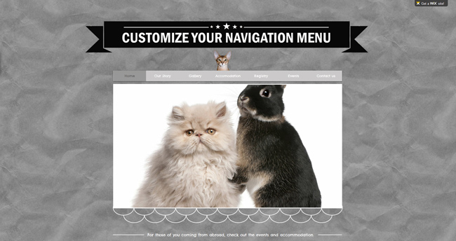 Customize your navigation menu