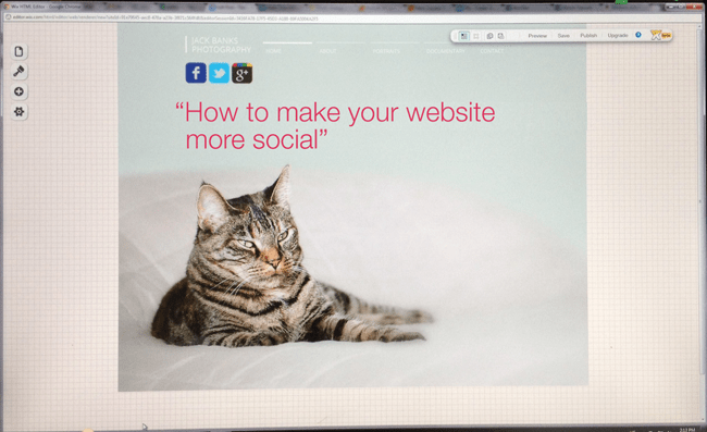 How to make you website more social