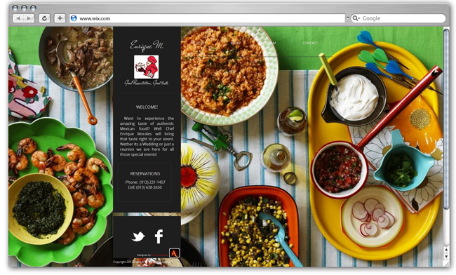 Catering Enriquem website