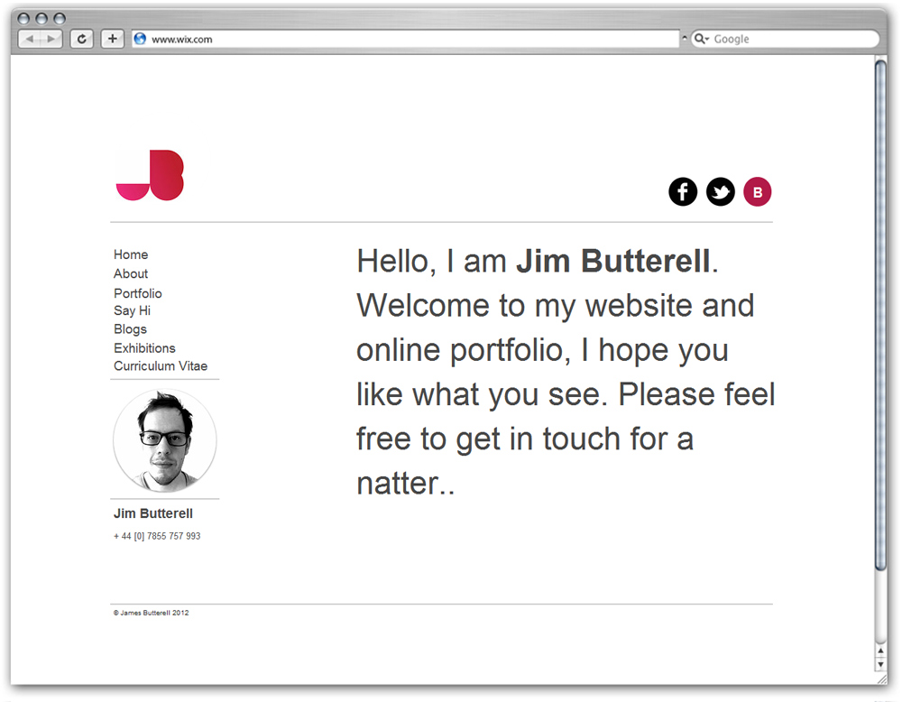 Jim Butterell Portfolio
