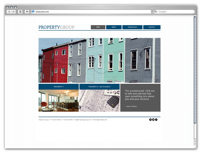 wix Property Group Template