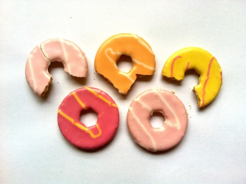 The Olympic Rings Recreated with cookies