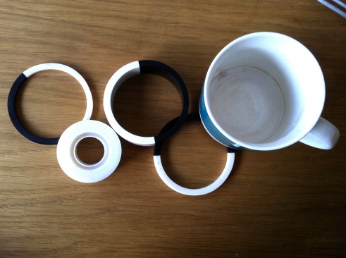 The Olympic Rings Recreated with mugs