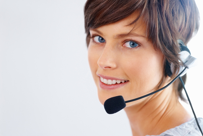 The customer service girl