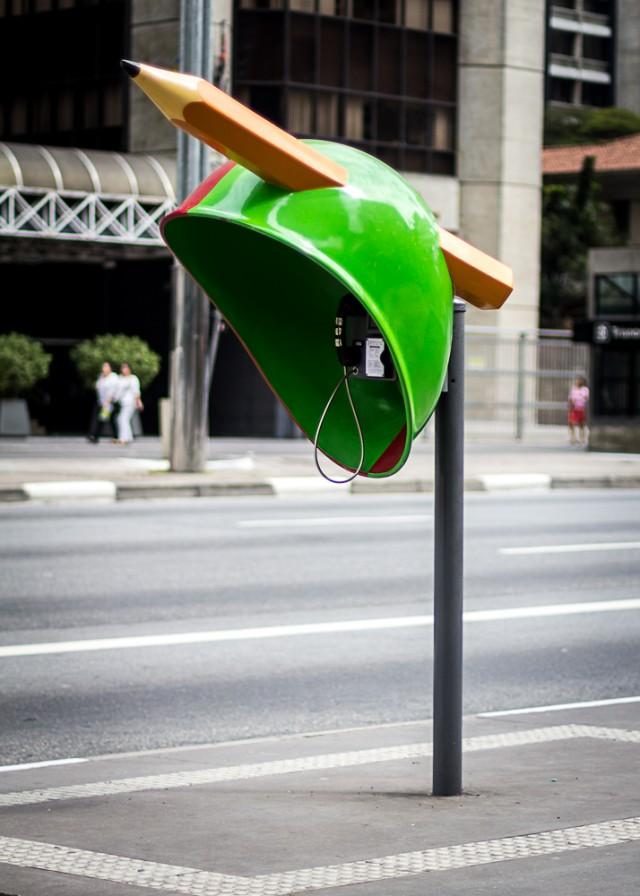 Creative Phone Booth Design Sao Paolo