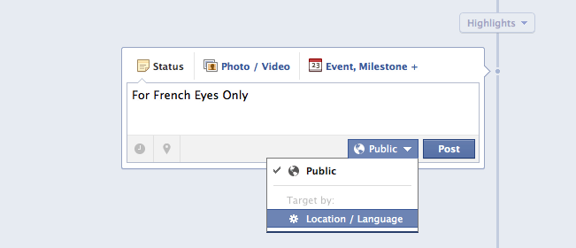 Language/ Geo-targeting your Facebook fans
