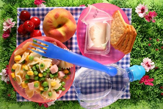 Un picnic con i bambini
