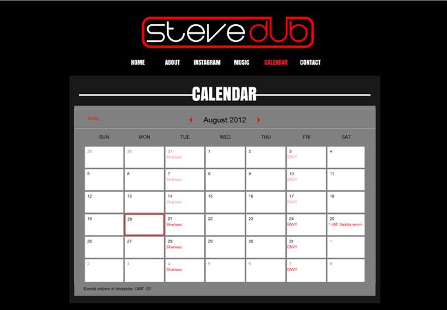 Steve Dub - Google Calendar app