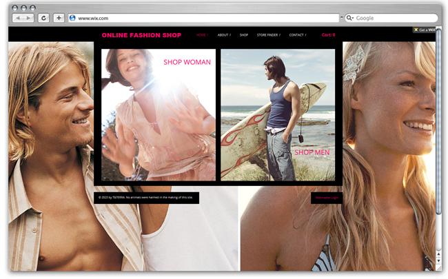 Online Fashion Shop Wix Shop template