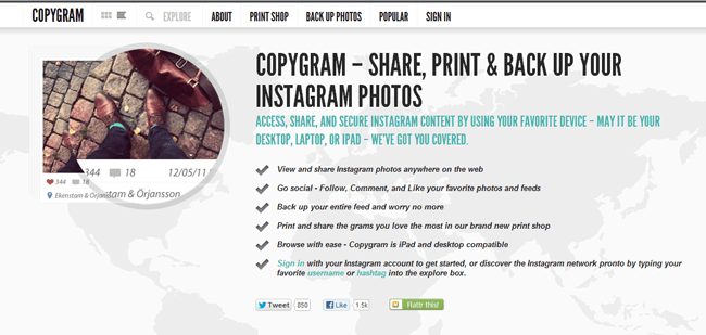 6 Cool Ways of Viewing Instagram on the Web - Copygr.am